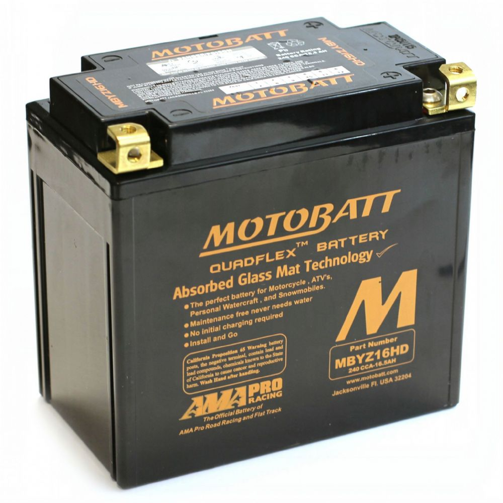 ea6b0da9f7a MBYZ16HD Motobatt AGM Motorcycle Battery 12v 16Ah 240CCA (YTX14-BS,  YTX14H-BS, YTX14L-BS) From £48.33 EX VAT Buy Online from The Battery Shop